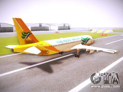 Airbus A320 Cebu Pacific Air for GTA San Andreas right view