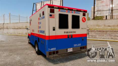Brute MRSA Paramedic for GTA 4 back left view
