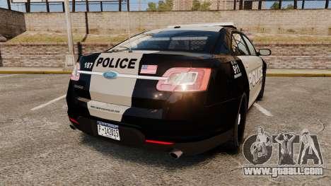 Ford Taurus LCPD Interceptor 2011 [ELS] for GTA 4 back left view