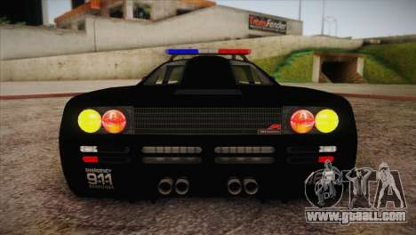 McLaren F1 Police Edition for GTA San Andreas side view