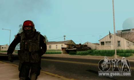 Kopassus Skin 1 for GTA San Andreas forth screenshot