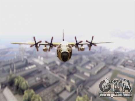C-130 Hercules Royal Moroccan Air Force for GTA San Andreas left view