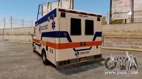 Brute CHMC Ambulance for GTA 4 back left view