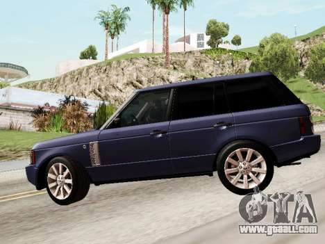 Land Rover Supercharged Stock 2010 V2.0 for GTA San Andreas upper view