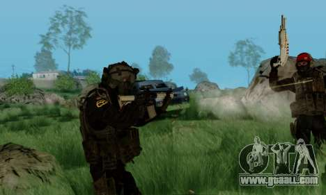 Kopassus Skin 3 for GTA San Andreas sixth screenshot