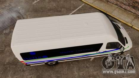 Mercedes-Benz Sprinter Itella Logistics for GTA 4 right view