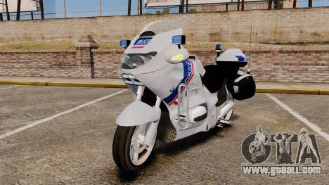 BMW R1150RT Police nationale [ELS] for GTA 4