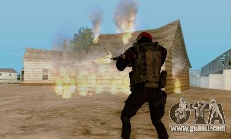 Kopassus Skin 1 for GTA San Andreas eighth screenshot