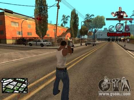 C-HUD Iron man for GTA San Andreas forth screenshot