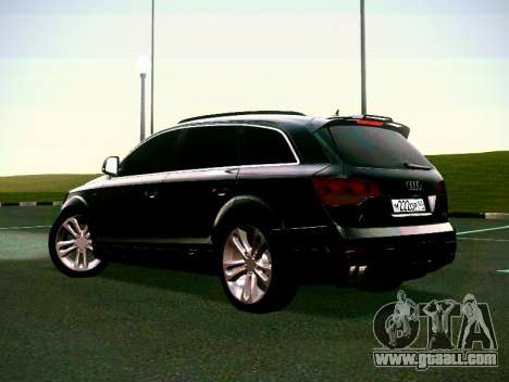 Audi Q7 for GTA San Andreas inner view