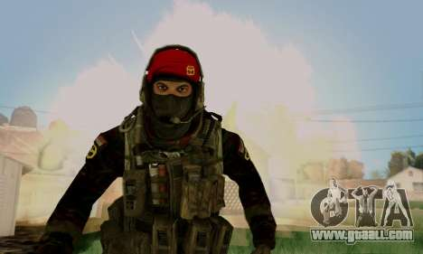 Kopassus Skin 1 for GTA San Andreas