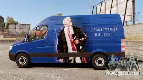 Mercedes-Benz Sprinter 2011 WWE Ultimate Warrior for GTA 4 left view