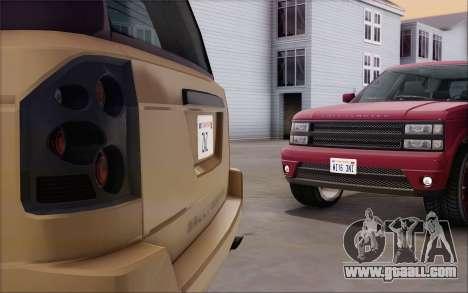 Gallivanter Baller из GTA V for GTA San Andreas back view