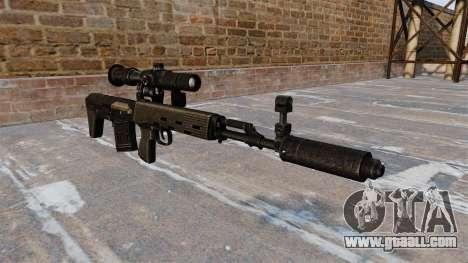 SVD sniper rifle shortened for GTA 4