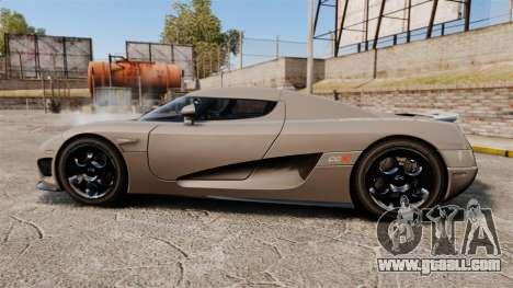 Koenigsegg CCX for GTA 4 left view