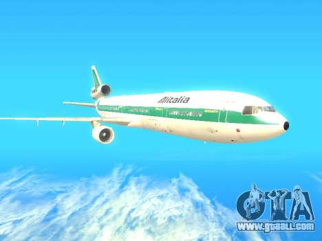 McDonnell Douglas MD-11 Alitalia for GTA San Andreas back left view