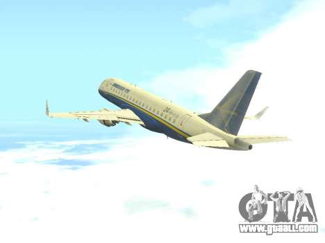 Embraer 175 HOUSE for GTA San Andreas back view