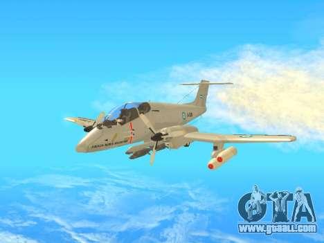 FMA IA-58 Pucara for GTA San Andreas left view