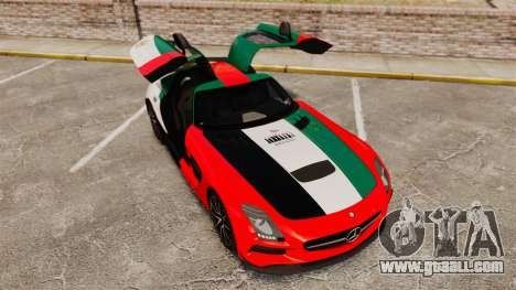 Mercedes-Benz SLS 2014 AMG UAE Theme for GTA 4 upper view