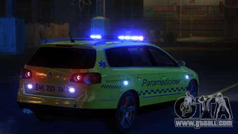 Volkswagen Passat Variant 2010 Paramedic [ELS] for GTA 4 back left view