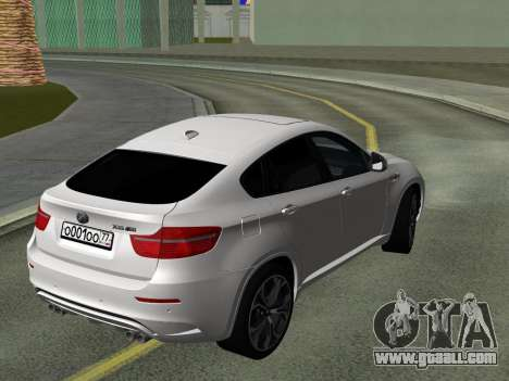 BMW X6M 2010 for GTA San Andreas inner view