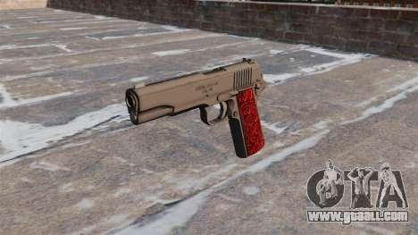 Guns Colt 1911 Chrome for GTA 4 third screenshot