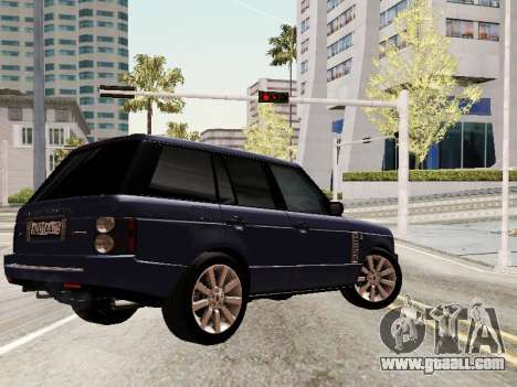 Land Rover Supercharged Stock 2010 V2.0 for GTA San Andreas bottom view