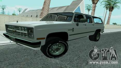 Chevrolet Suburban 2500 1986 for GTA San Andreas