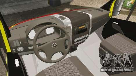 Mercedes-Benz Sprinter Finnish Ambulance [ELS] for GTA 4 back view