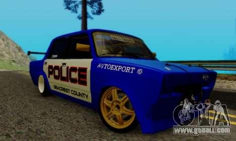VAZ 2107 Drift for GTA San Andreas back left view