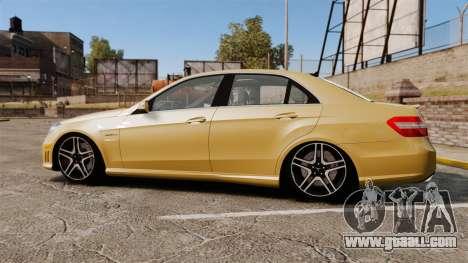 Mercedes-Benz E63 AMG for GTA 4 left view