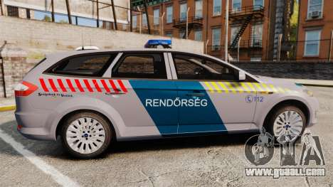 Ford Mondeo Hungarian Police [ELS] for GTA 4 left view