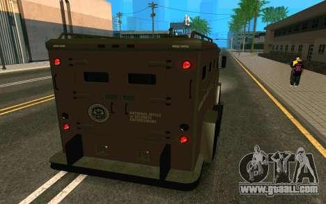 GTA V Police Riot for GTA San Andreas left view