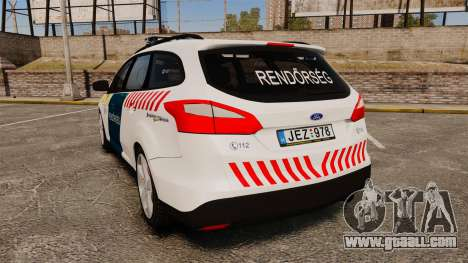 Ford Focus 2013 Hungarian Police [ELS] for GTA 4 back left view