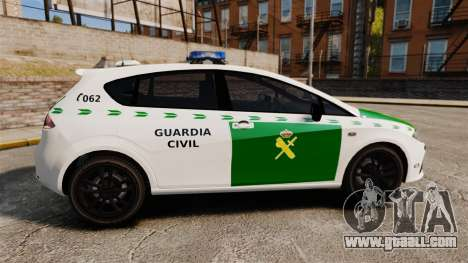 Seat Cupra Guardia Civil [ELS] for GTA 4 left view