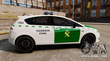 Seat Cupra Guardia Civil [ELS] for GTA 4 left view