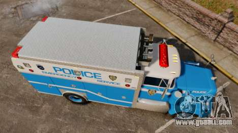 Mack R Bronx 1993 NYPD Emergency Service for GTA 4 right view