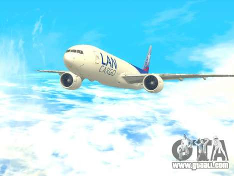 Boeing 777 LAN Cargo for GTA San Andreas back left view