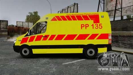 Mercedes-Benz Sprinter Finnish Ambulance [ELS] for GTA 4 left view