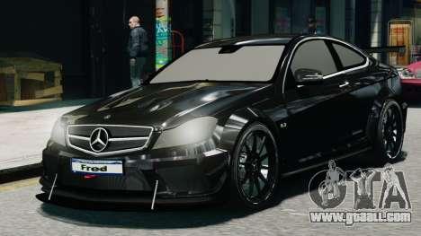 Mercedes-Benz C63 AMG Black Series 2012 for GTA 4