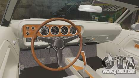 Dodge Challenger 1971 Vanishing Point for GTA 4 inner view