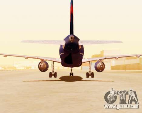 Airbus A320-200 Aeroflot for GTA San Andreas side view