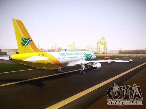 Airbus A320 Cebu Pacific Air for GTA San Andreas side view