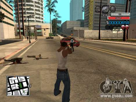 The new C-HUD for GTA San Andreas