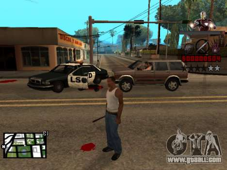 C-HUD Iron man for GTA San Andreas second screenshot
