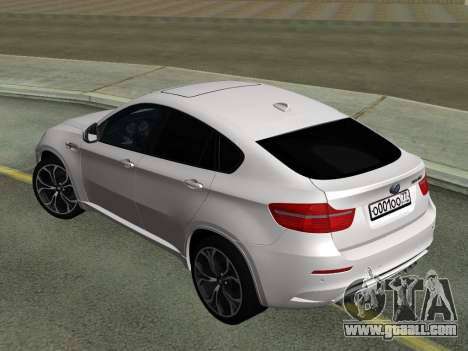 BMW X6M 2010 for GTA San Andreas right view