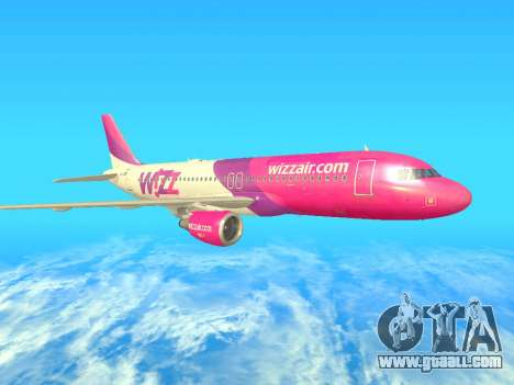 Airbus A320-200 WizzAir for GTA San Andreas