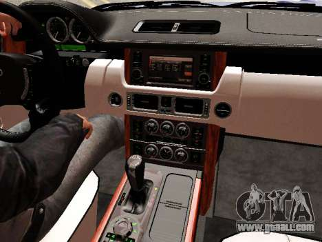 Land Rover Supercharged Stock 2010 V2.0 for GTA San Andreas interior