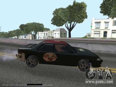 Vinyls for Sultan for GTA San Andreas back left view