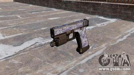 The Pistol Glock 20 Blue Tiger for GTA 4 third screenshot